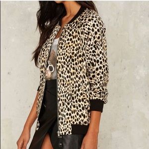 Motel Cheetah print come as you are bomber jacket